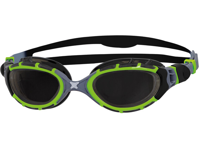 Zoggs Predator Flex Lunettes de protection Titanium Reactor, black/green